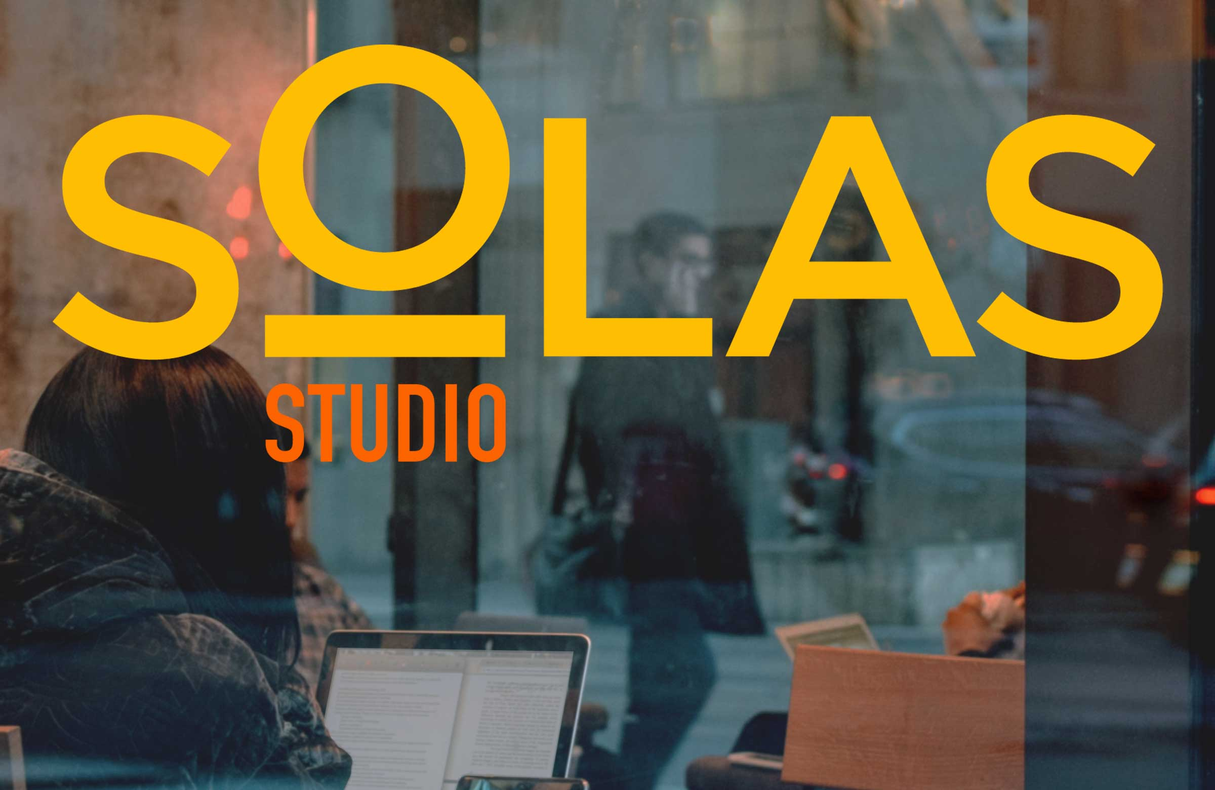 Solas Studio Window Graphic